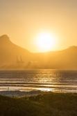 Kaapstad haven zonsondergang sundown