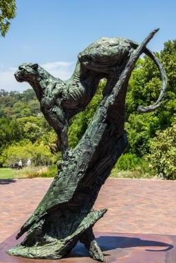 kirstenbosch cheetah statue
