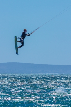Langebaan kitesurfen kiteboarding flying